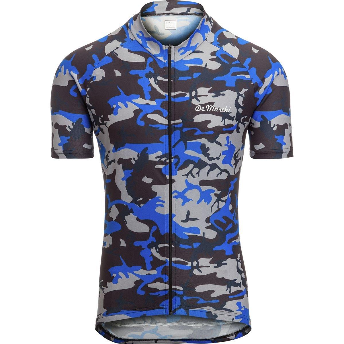 De Marchi Camo半袖Jersey – Men 's X-Large ブルーカモ(Blue Camo) B07CSXR4WX