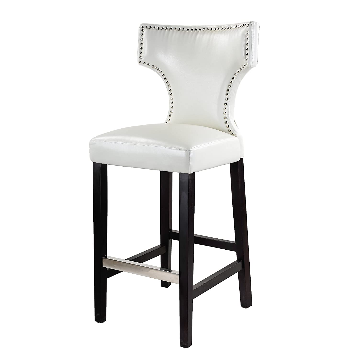 Amazon CorLiving DAD 819 B Kings Bar Height Barstool in White