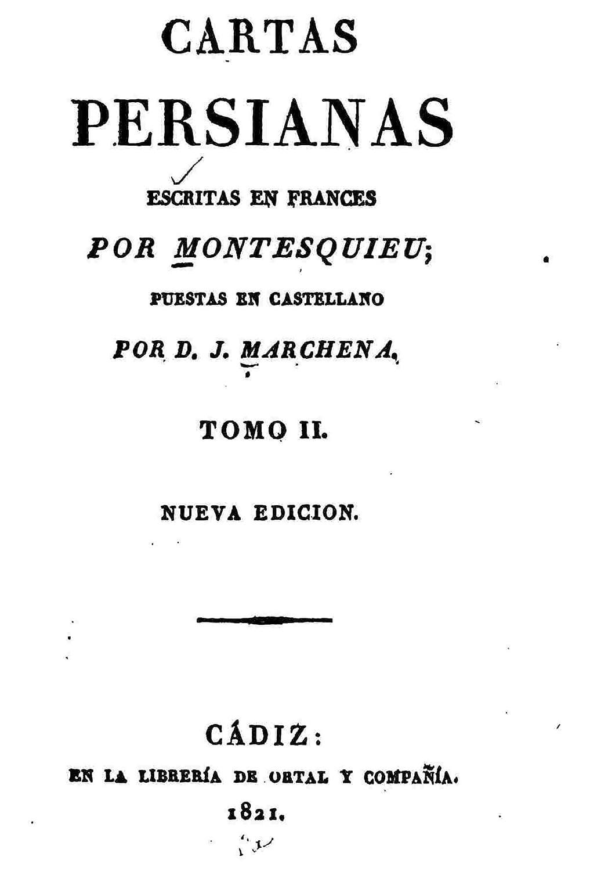 Cartas Persianas Escritas en Frances - Tomo II eBook: Montesquieu ...