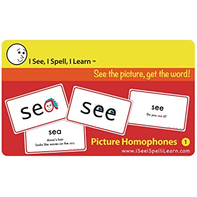 I See, I Spell, I Learn - Picture Homophones Flashcards Set 1: Toys & Games