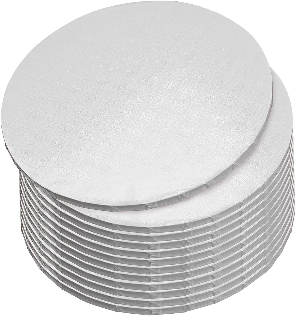 12pk White Cake Drum Boards with 1//2-Inch Thick Smooth-Edges SpecialT 10 Inch Round Cake Drums