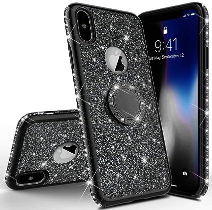CASE COVER CUSTODIA CON BRILLANTINI TPU GLITTER PER IPHONE X / XS