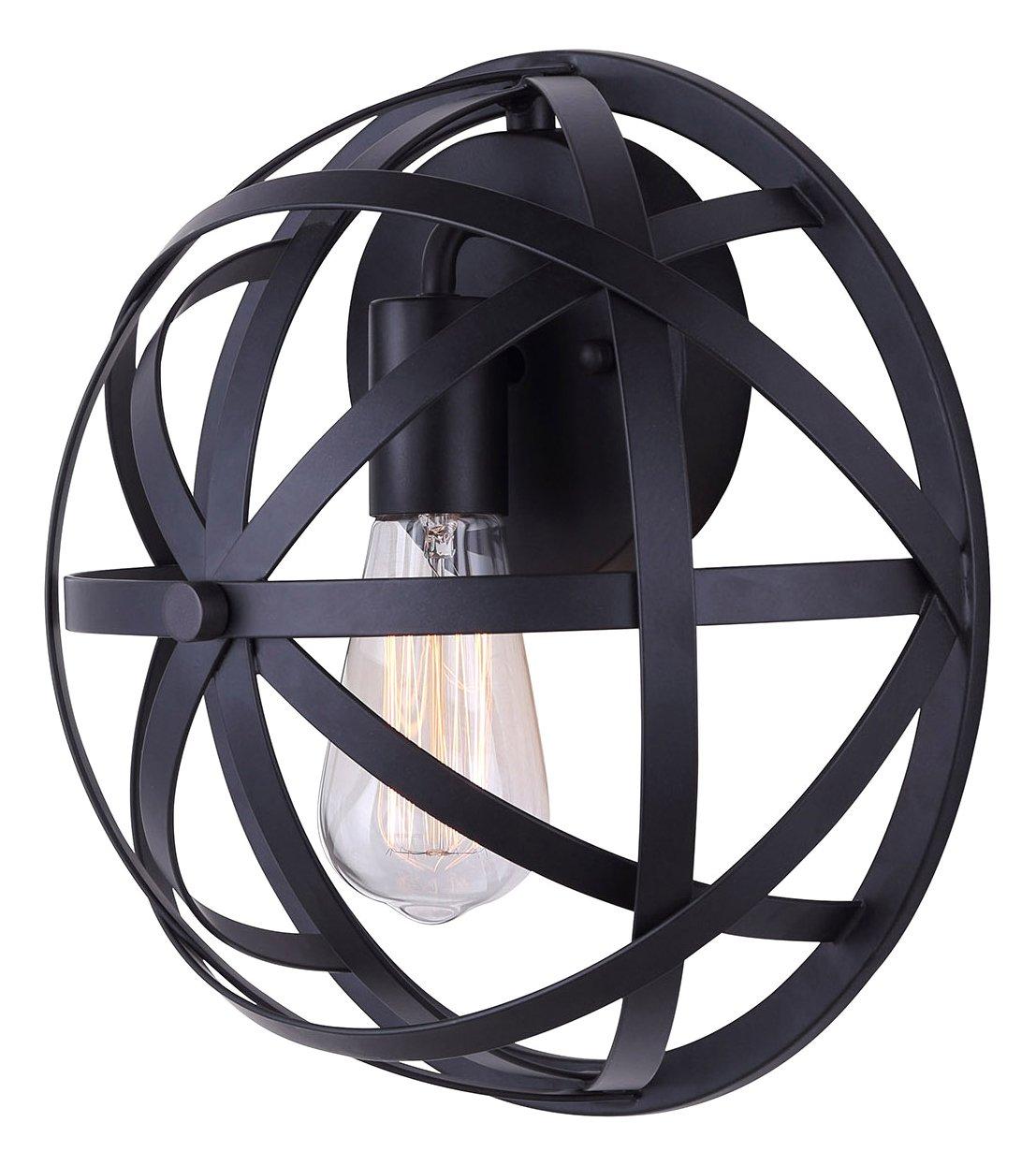 (1 light) - CANARM IWL567A12BK-C Gigi 1 Light Wall Light Black with Metal Cage, Oil Rubbed Bronze B01A93TVTI 1 light|オイルステイン仕上げブロンズ オイルステイン仕上げブロンズ 1 light