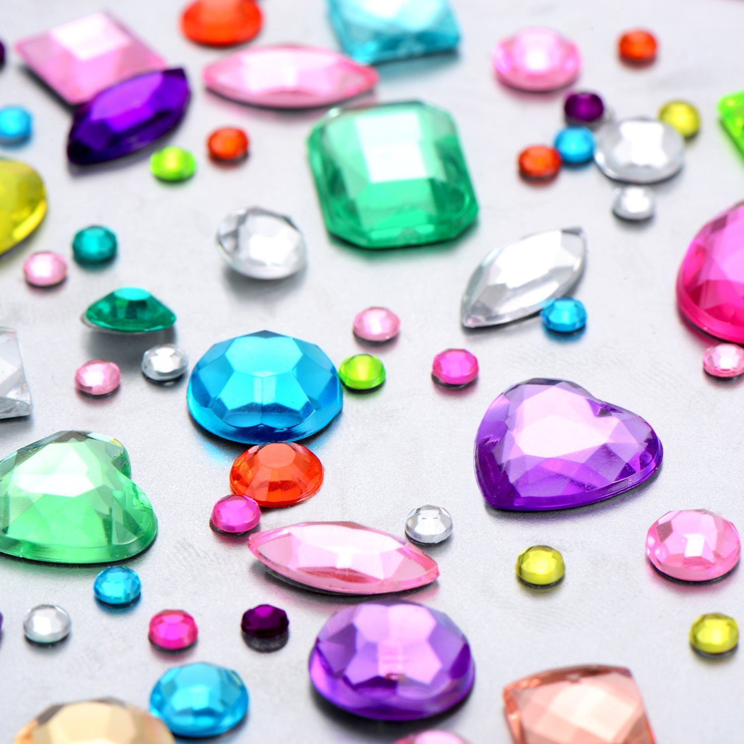 Assorted Size EAST-F Self-Adhesive Rhinestone Sticker Bling Craft Jewels Crystal Gem Stickers 5 Sheets