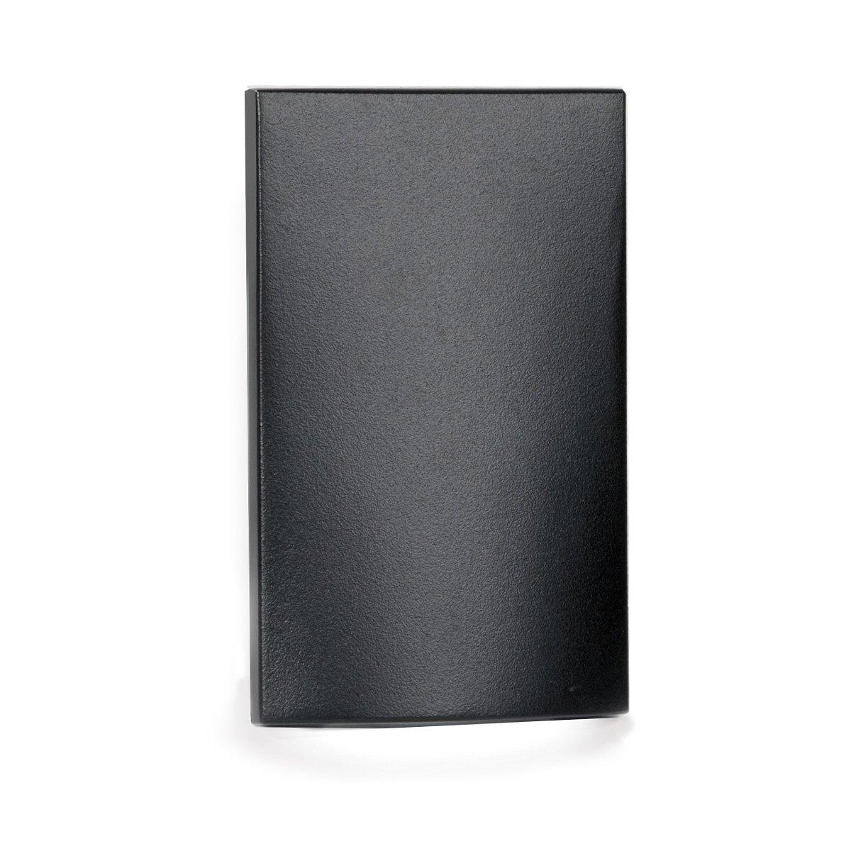 WAC Lighting WL-LED210-C-BK LED Vertical Scoop Step and Wall Light 120V 3000K, Black
