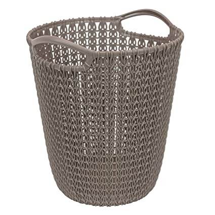 145aee1adda6 CURVER Paper bin Knit 23,1x23,9x27,2cm in Brown, 23.1 x 23.9 x 27.2 cm:  Amazon.co.uk: Kitchen & Home