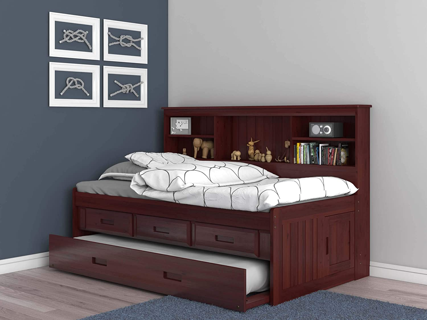 - Amazon.com: Discovery World Furniture Twin Daybed Bookcase With 3
