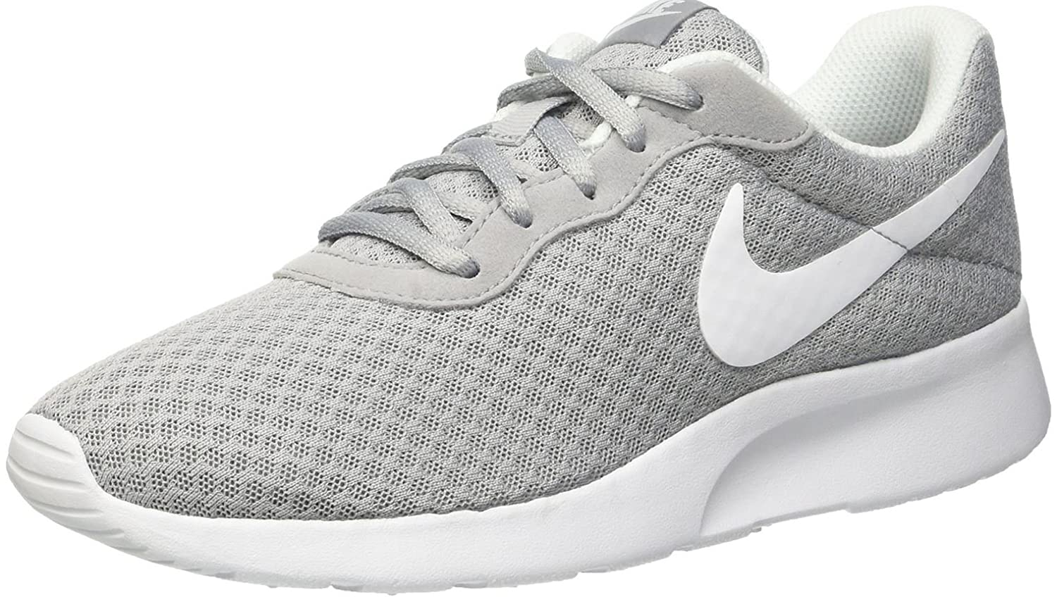 half off e30bd 53d08 Amazon.com   Nike Womens Tanjun Running Sneaker Wolf Grey White 8.5    Fashion Sneakers
