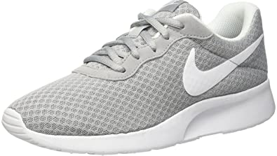 Amazon.com | Nike Womens Tanjun Running Sneaker Wolf Grey/White 8 ...