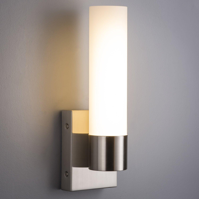cheap sconce lighting. Perpetua LED Bathroom Vanity Light - Brushed Nickel Linea Di Liara LL-SC941-BN Amazon.com Cheap Sconce Lighting I