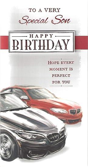 Special Son Bmw Style Sports Car Happy Birthday Greeting Card
