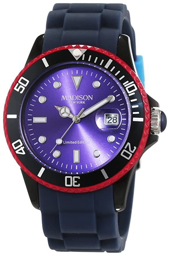 Madison New York Candy Time Colour Festival - Reloj de pulsera analógico unisex cuarzo silicona U4484 F: Amazon.es: Relojes