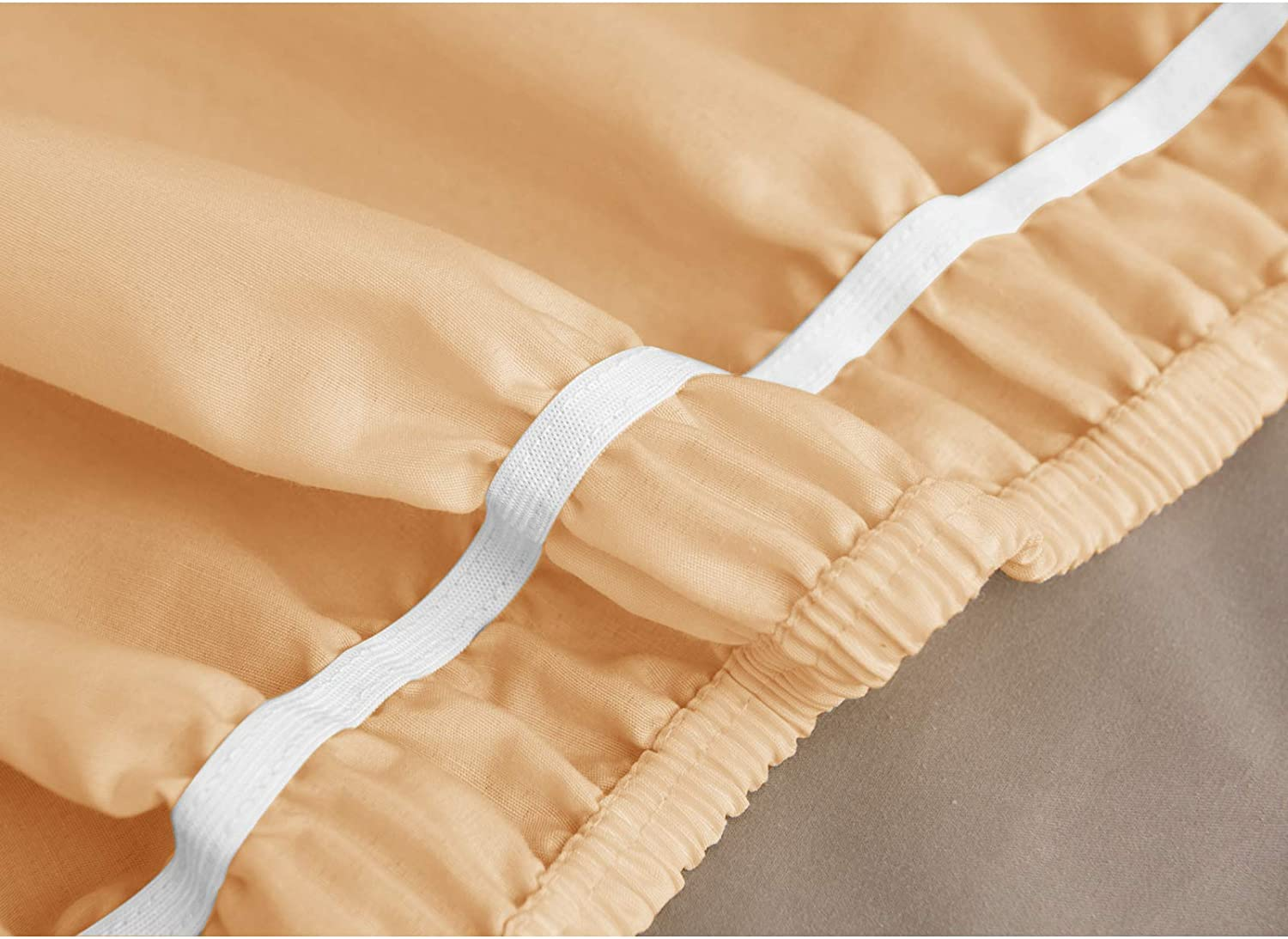 Obytex Wrap Around Bed Skirts Cotton Bedskirt Elastic Dust Ruffle Silky Soft /& Wrinkle Free Classic Stylish Look in Your Bedroom
