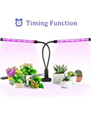 Grow Light, Ankace [2019 Upgraded Version] 40W Dual Head Timing 36 LED 5 Dimmable Levels Plant Grow Lights for Indoor Plants with Red/Blue Spectrum, Adjustable Gooseneck, 3/6/12H Timer, 3 Switch Modes