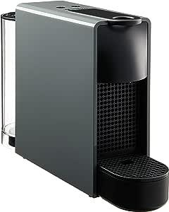 Nespresso Essenza Mini Coffee Maker with Aeroccino Bundle, Intense Grey