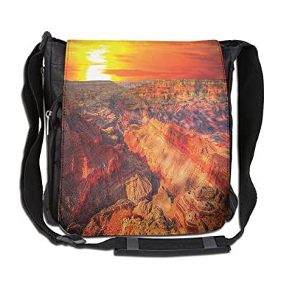 Lovebbag Horizon Overview Unique Grand Canyon Photo Saturated With Warm Color Effects Sunset Crossbody Messenger Bag