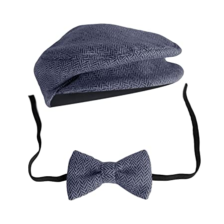 10e072bc Image Unavailable. Image not available for. Colour: Elegant Gentleman Style Newborn  Baby Boys Photography Cap Hat Bow Tie Props Costume ...