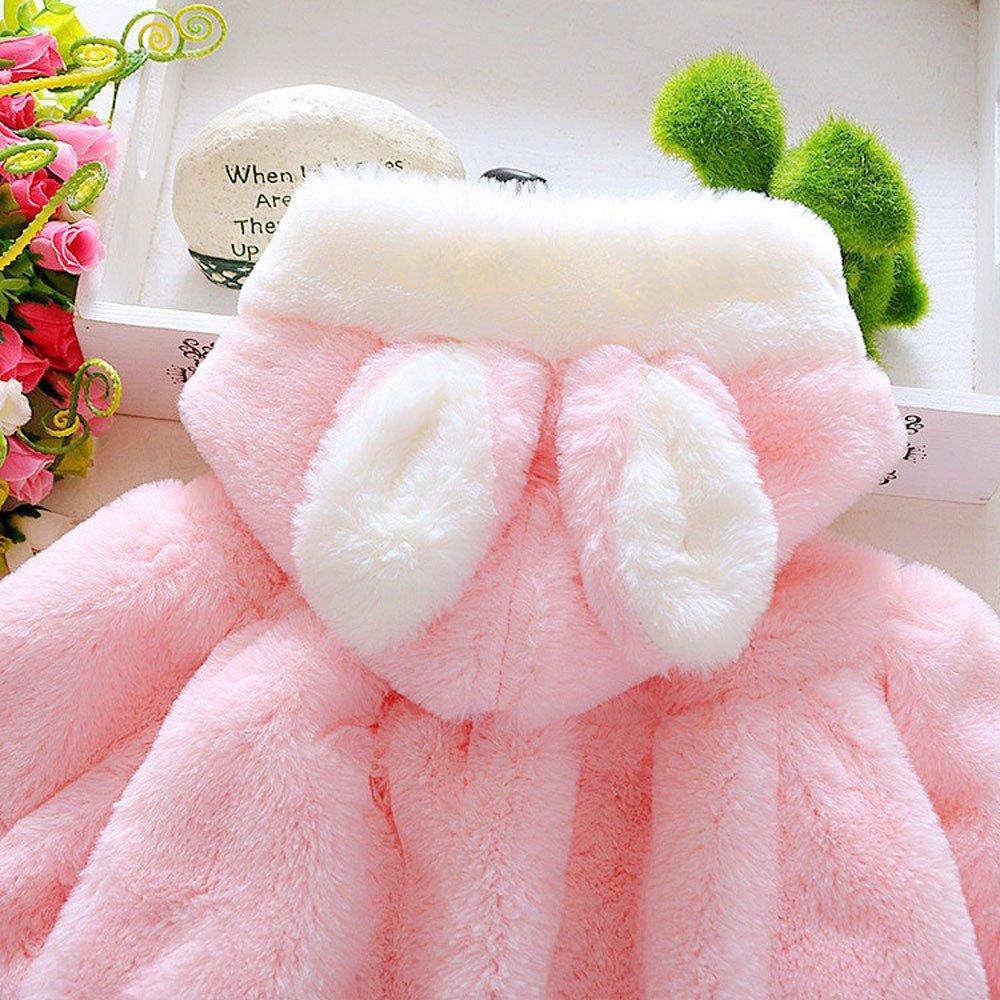 Buedvo Baby Girls Coat Fur Winter Warm Cloak Thick Jacket Warm Hoodies