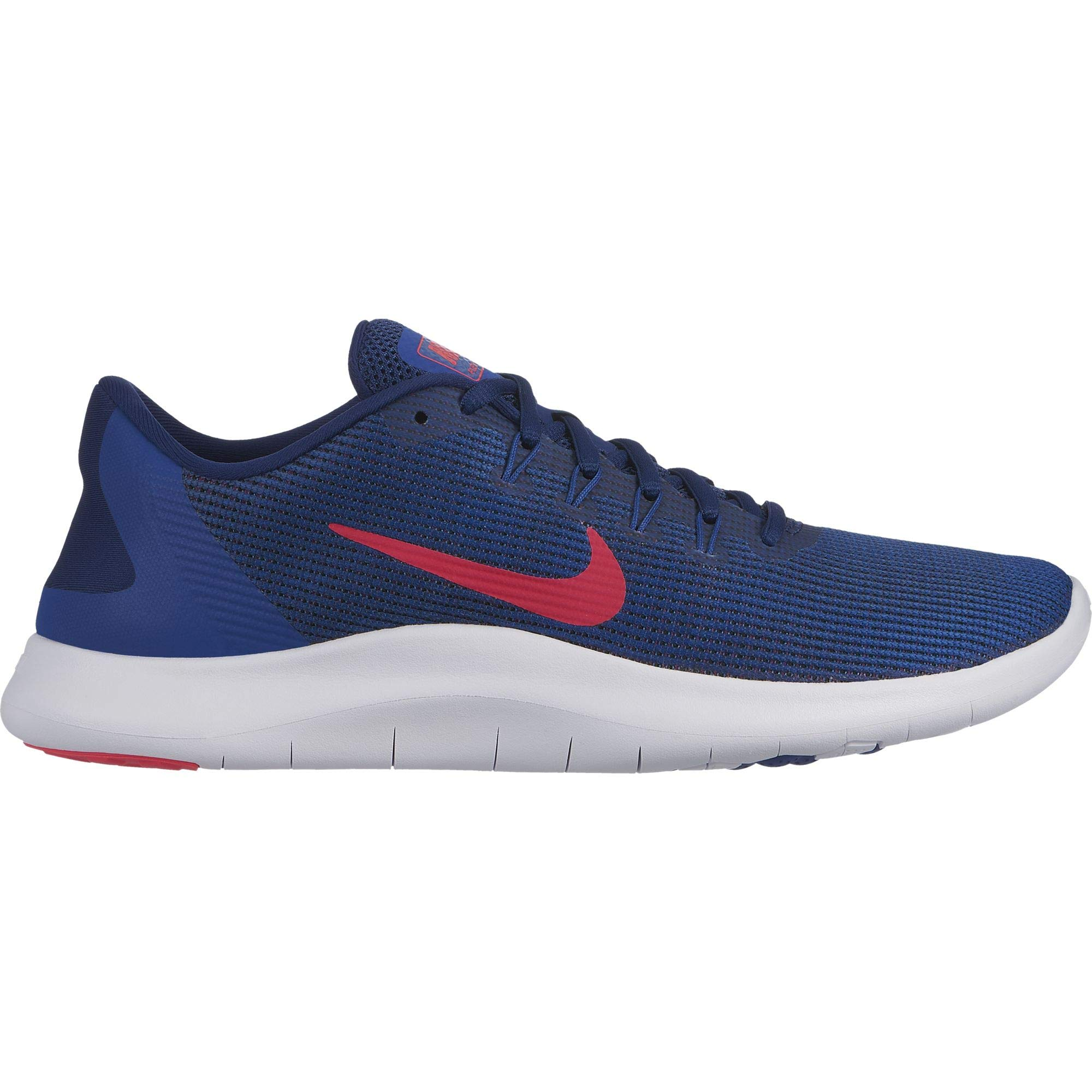 Nike Men's Flex RN 2018 Running Shoe Blue Void/Red Orbit/Indigo Force/White Size 11 M US