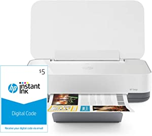 HP Tango Smart Home Printer – Designed for your Smartphone with Remote Wireless Printing, works with Alexa and Instant Ink $5 Prepaid Code