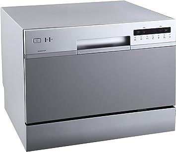 Amazon Com Edgestar Dwp62sv 6 Place Setting Energy Star Rated Portable Countertop Dishwasher Silver Home Improvement