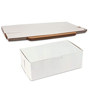 White Non-Window Auto-Lock Bakery Box Clay Coated Kraft Paperboard Interior 10