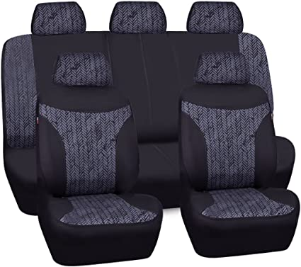 Universal Car Seat Covers Linen fit Split Rear 40//60 50//50 For SUV VAN TRUCK KIA
