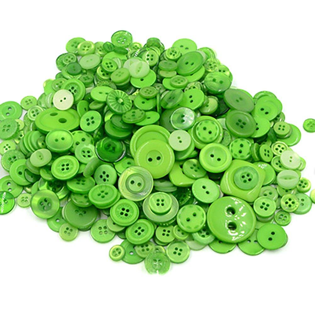 MoGist 660 bottoni semplici rotondi per bambini adesivi fai da te fatti a mano creativi materiali di produzione, Orange, 7-28MM