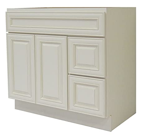 "NGY Antique White Vanity Cabinet Maple Wood AW-4221DR, 42"" ... - NGY Antique White Vanity Cabinet Maple Wood AW-4221DR, 42"