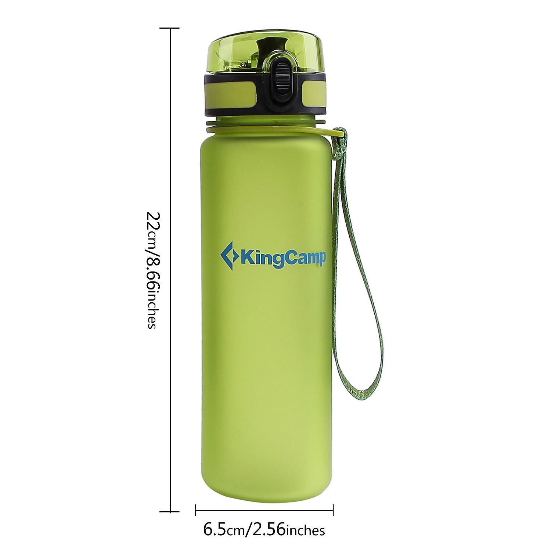 KingCamp 500ml TRITAN Botella de Agua Boca Ancha Anti Fuga Libre BPA Tapón a Prueba de Goteo Botella de Agua con Cierre para Deportes Ciclismo Camping ...