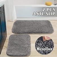 Aytai 2 Piece Bathroom Rugs Bath Mats for Bathroom Non Slip, Grey Soft Microfiber...