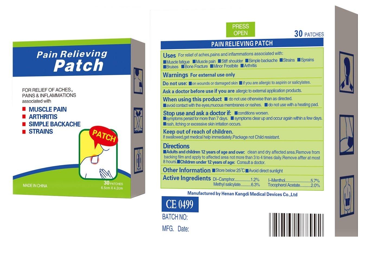 Cou la douleur au bas du dos douleurs et entorses et joint point patchs/ /30/Pansements Taille M Plantes de la chaleur soulager la douleur Patch Pl/âtre pour mineures musculaire arthrite