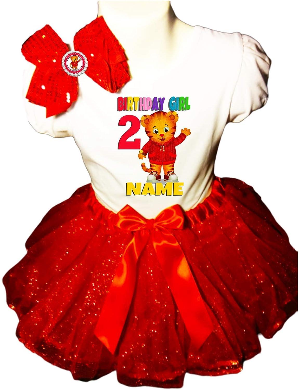 Daniel Tiger Birthday Party Dress 2nd Birthday Red Tutu Outfit Shirt