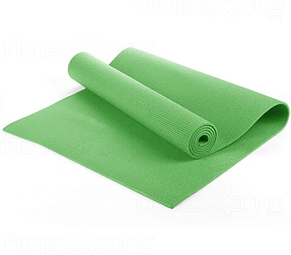 fitnessXzone Yoga Mat - Exercise Fitness Workout Physio Pilates Festivals Camping Gym Non Slip Extra Thick 6mm