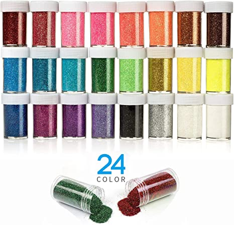 3 Pack Assorted Blues Fine Craft Glitter for CraftsCraft Glitter