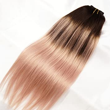 Amazon stella reina dark brown to pink rose gold highlights stella reina dark brown to pink rose gold highlights ombre balayage hair extensions sombre pink blonde pmusecretfo Choice Image