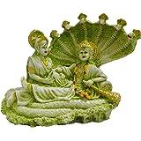 Antique Finish Lord Laxmi Vishnu Statue Hindu God Vaikunth Sculputer Narayana Handicraft Idol Diwali Decorative Spiritual Puja Vastu Showpiece Figurine - Religious Pooja Gift Item & Murti for Mandir / Temple / Home / Office