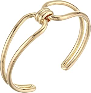 Rebecca Minkoff Twisted Knot Double Cuff Bracelet Gold One Size