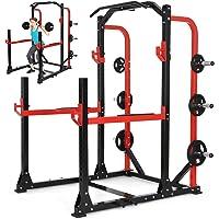 Physionics - Station de Musculation Multifonction Power Rack Cage à Squats Développé Couché Station de Traction