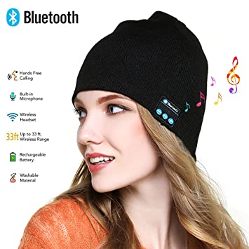 Walsilk Bluetooth Beanie Hat Cap,Chapeau de Bluetooth,Chapeau de casque de  Bluetooth, 3f8d41e8066