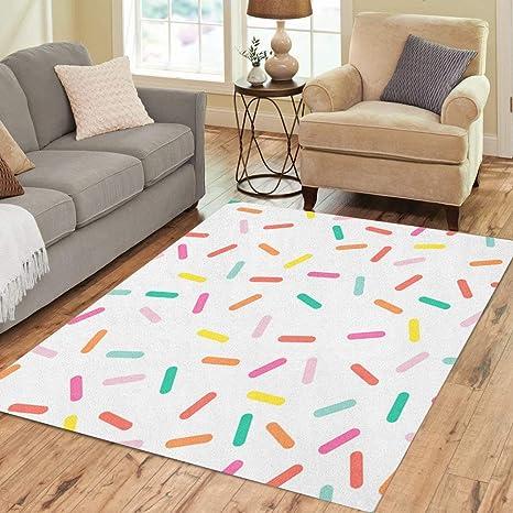Abstract Donut Pattern Area Rugs Kids Bedroom Carpet Living Room Round Floor Mat