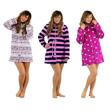 Amazon.com: Forever Dreaming Big Girls\' Soft Fleece Mini Robe ...