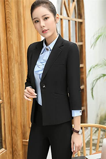 82e4967b4e9f Amazon.com   Wear long-sleeved suit suit chaps skirt suit jacket for women  girl   Beauty