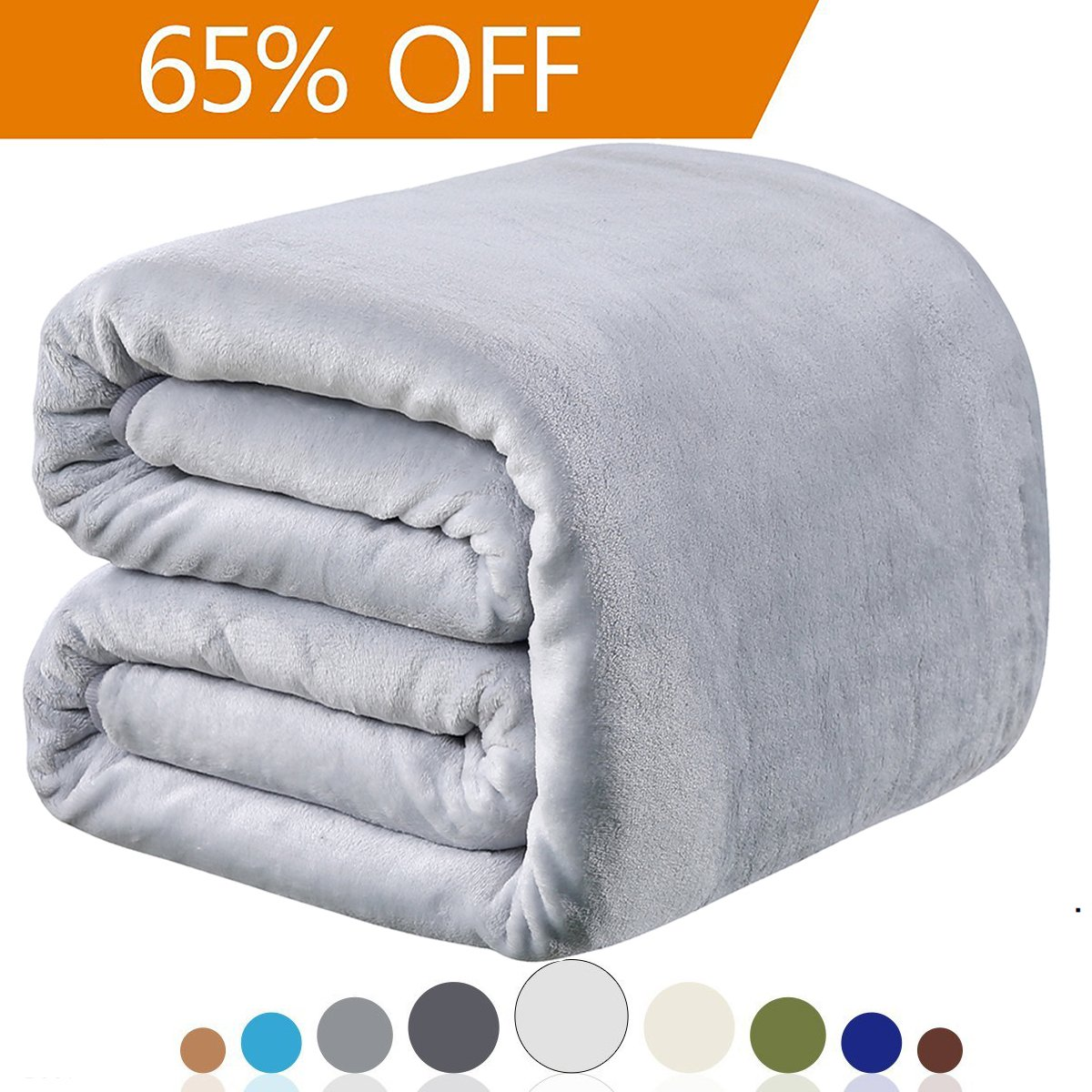 Polar Fleece Blankets King Size for The Bed Extra Soft Brush Fabric Super Warm Bed Blanket Lightweight Couch Blanket Light Gray King