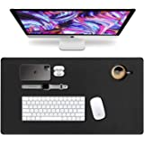 VineCreations Leather Desk Pad Mat Blotter Midnight Black - Premium Quality - Smooth Mouse Writing Surface Waterproof…
