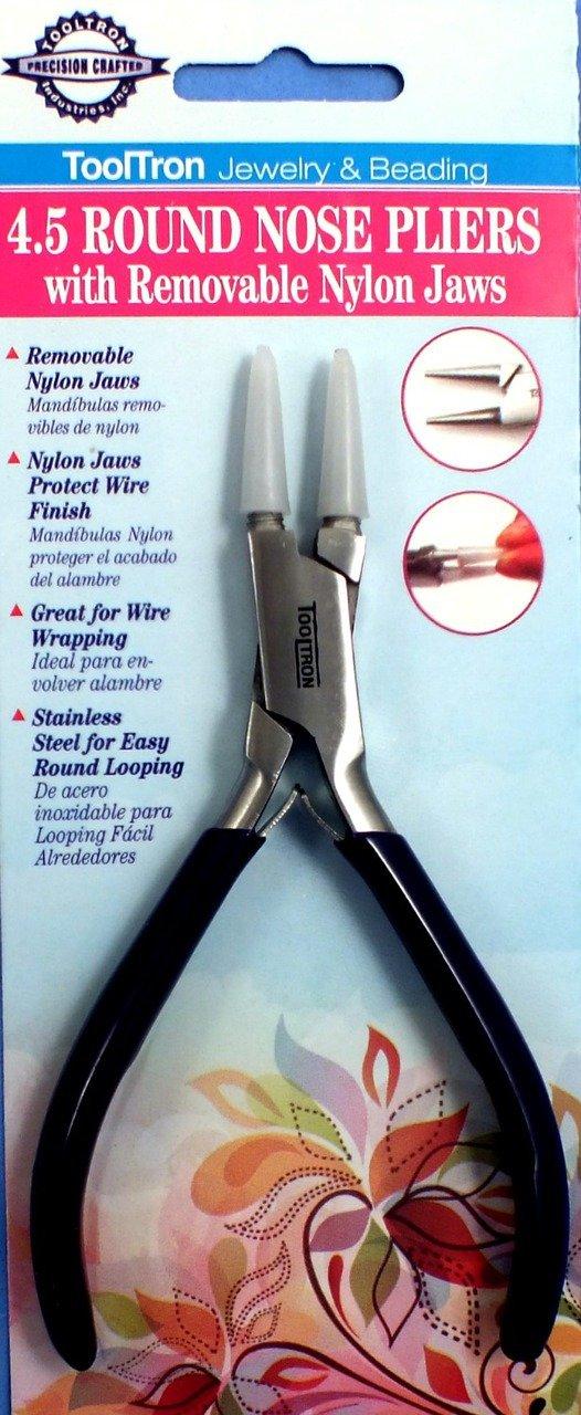Amazon.com: Tooltron 00864 Nylon Jaw Round Nose Pliers, 4.5\
