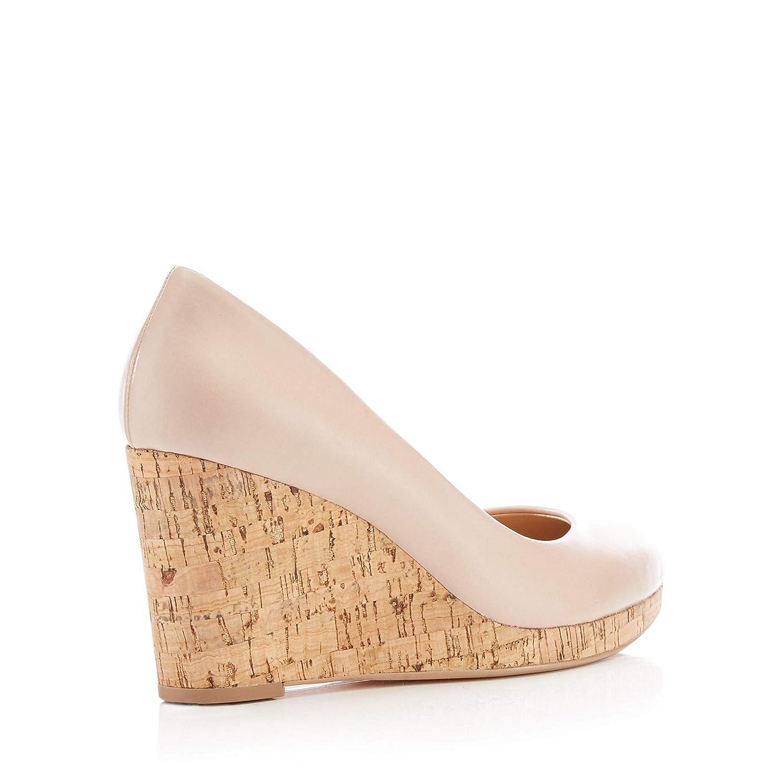 77231ecc8 Principles Womens Nude 'Rumer' Wedge Court Shoes: Amazon.co.uk: Shoes & Bags