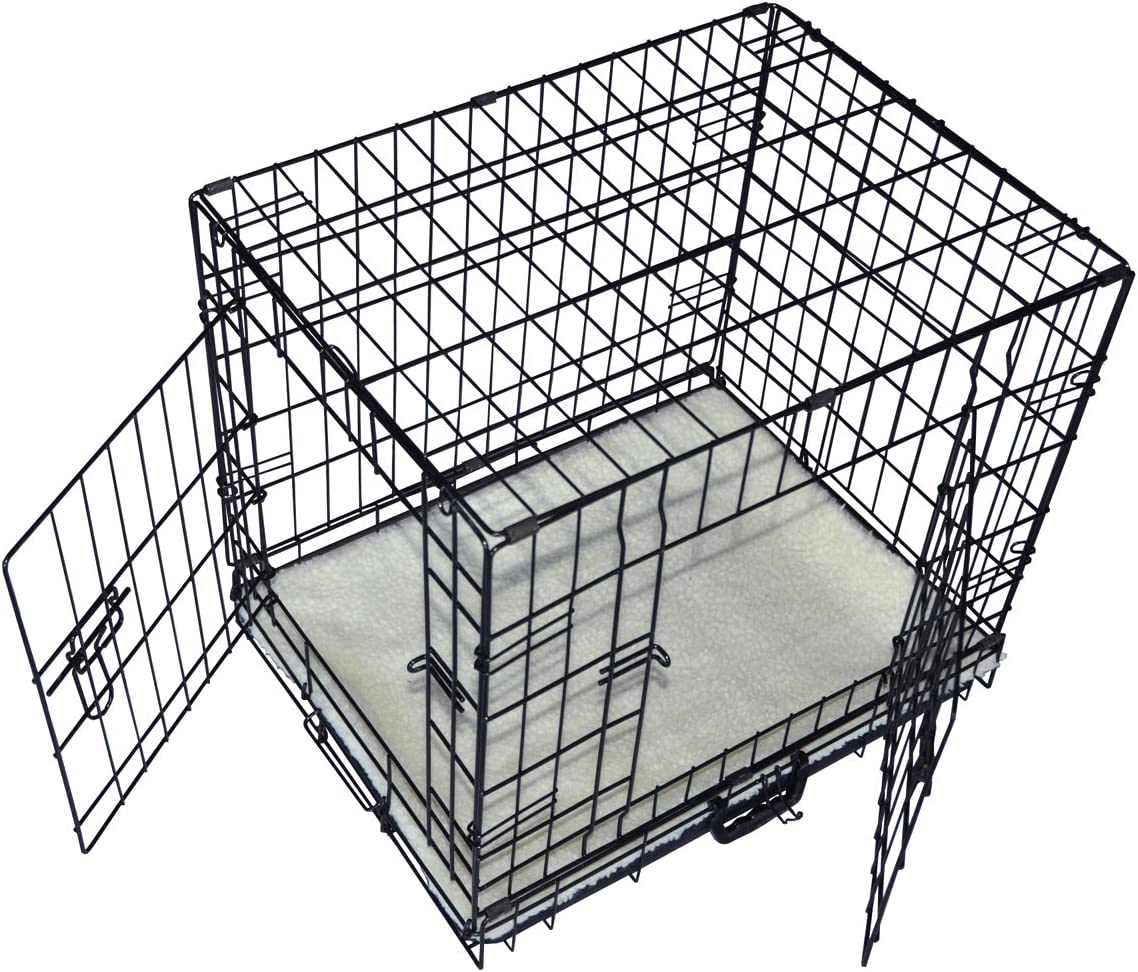Cool Runners Tall Boy Large Wire Pet Crate 30 x 21 x 24 With Bonus Faux Sheepskin Mattress