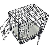 "Cool Runners Tall Boy Medium Foldable Wire Pet Crate / Kennel 25"" x 19"" x 22"" With Bonus Faux Sheepskin Mattress"
