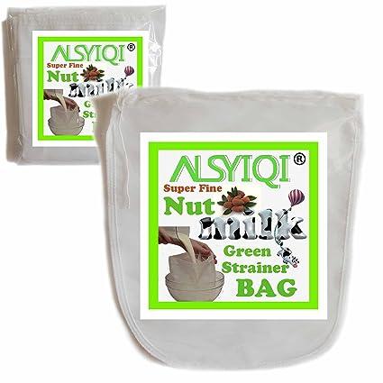 Bolsa de leche de almendra Alsyiqi, reutilizable, de malla fina, colador de alimentos